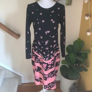 Lularoe Debbie elegant pink sparkle dress Medium